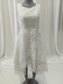 e1f0312af0 Vestido Blanco Gasa Clothink Mediano. La Segunda Bazar