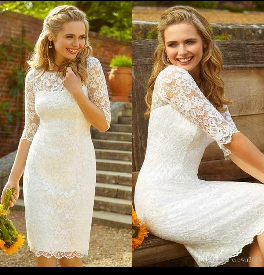 Vestidos boda civil blancos