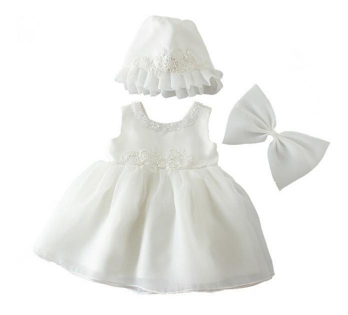 boutique de salida talla 40 amplia gama Vestido Blanco Ivory Princesa Bautizo Con Gorrito Envio Grat