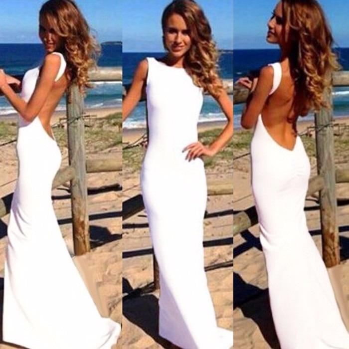Vestido blanco largo de fiesta