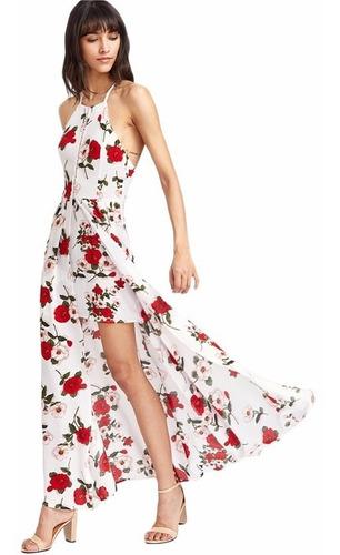vestido blanco largo maxi playero   vd 74 envìo gratis