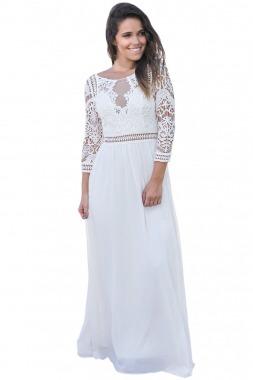 Vestidos blancos de manga larga
