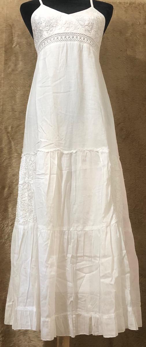 Vestido blanco de manta