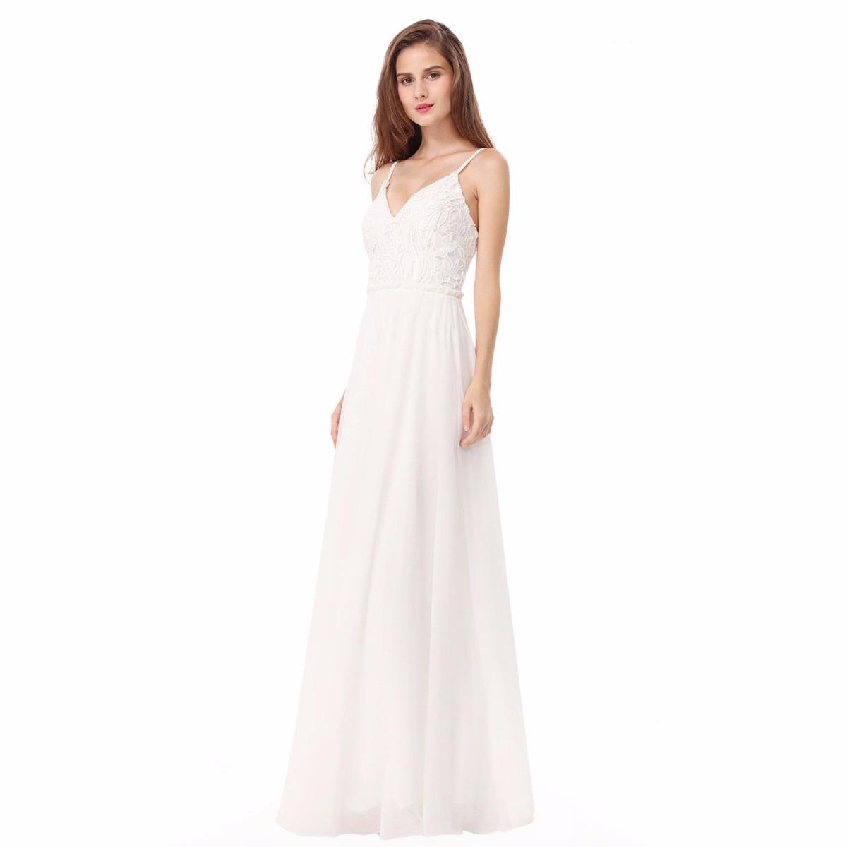 605eacdc3a3 vestido blanco novia dia verano importados moda pasión. Cargando zoom.