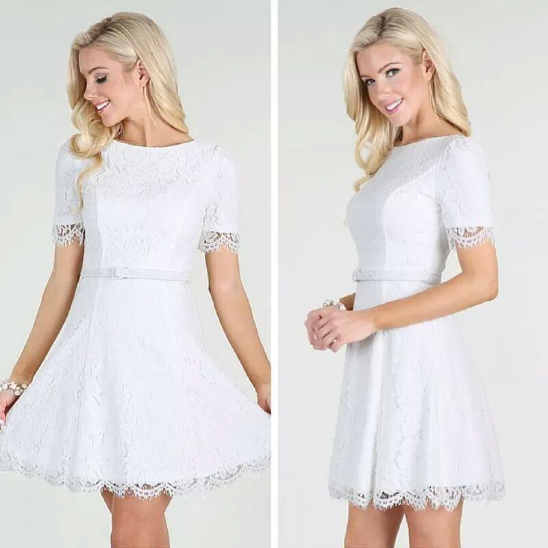mejor servicio elegante y elegante descuento especial Vestido Blanco Para Matrimonio Civil