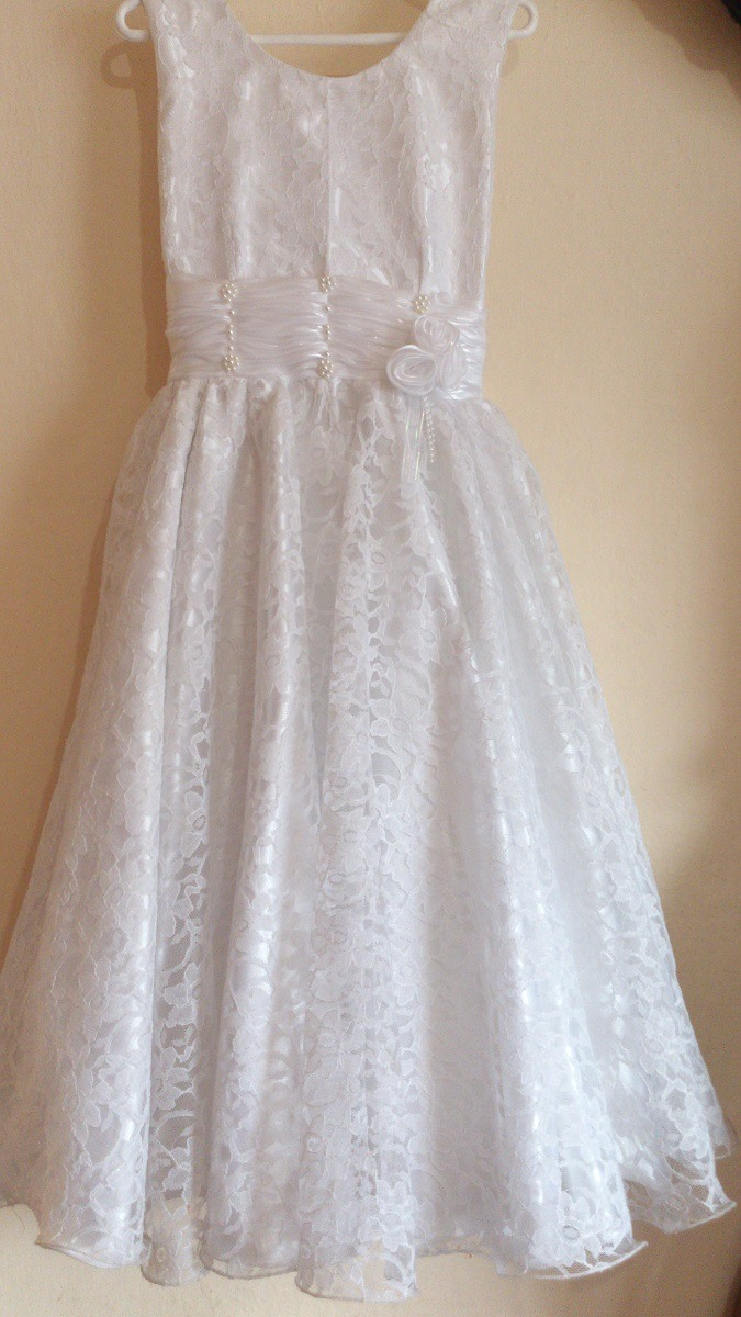 Vestido blanco para nena