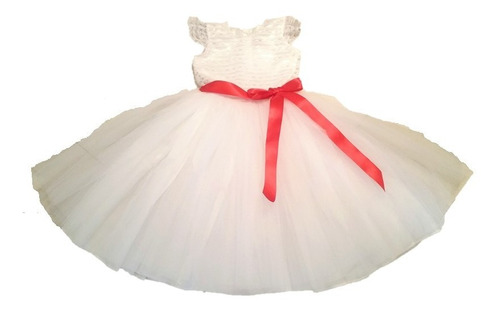 vestido blanco para niña tallas 2 - 8  nuevo modelo