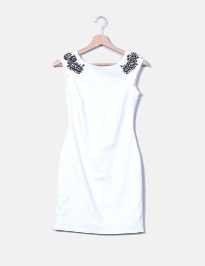 Zara Vestido Blanco Libre Mercado En 00 Pedrería 350 UUfrqwxE8 d9e5a7c84bea