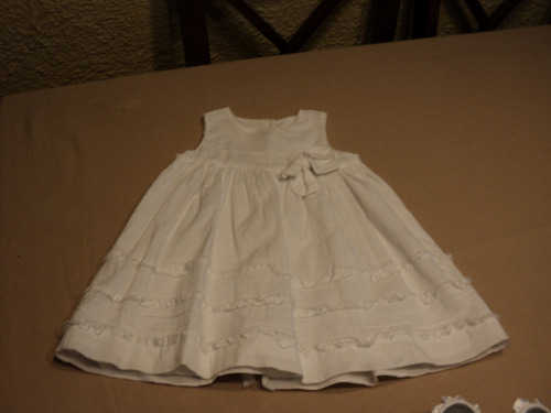 vestido blanco talla s (de0-3 meses) mimo y co