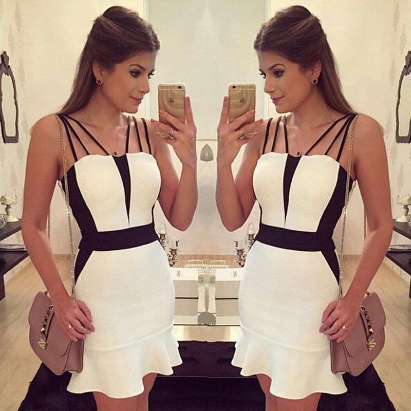 Vestidos en blanco y negro elegantes