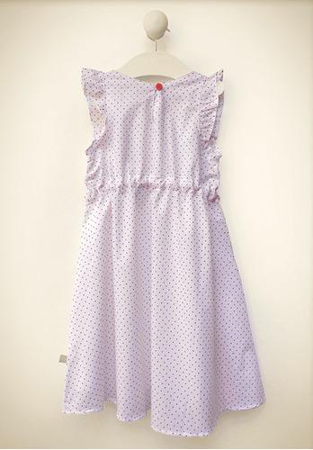 vestido blisant voile algodón forrado rouge little treasure