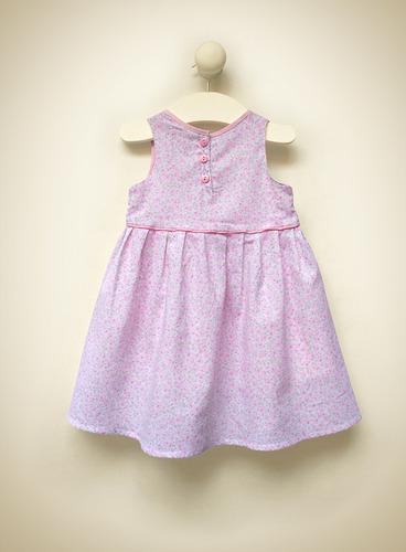 vestido blisant voile de algodón estampado little treasure