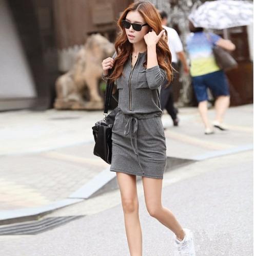 vestido blusa falda moda japonesa bolsa con cierre