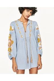 Ropa Vestidos Zara Mujer De Casuales Cortos En 80kOXZwNPn