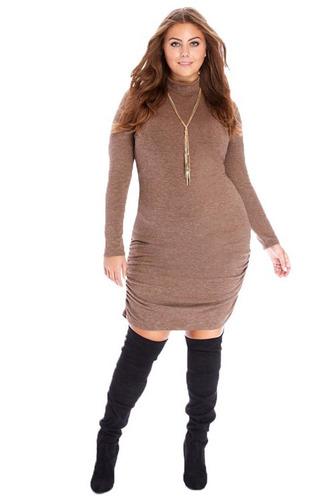 vestido bluson cuello alto tallas extra nuevo entrega inmedi
