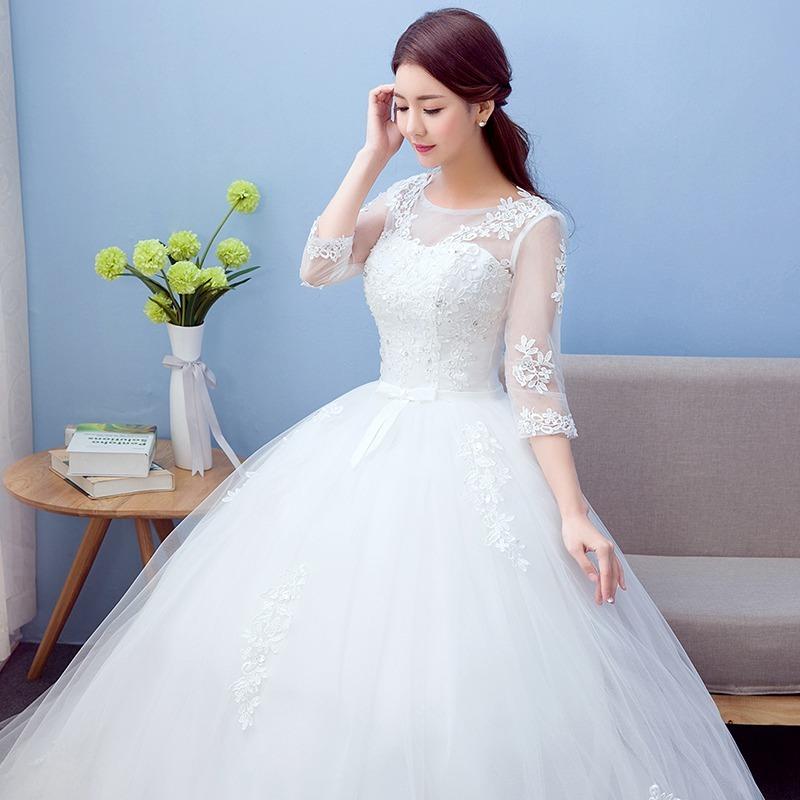 vestido boda con manga envio gratis ! w-00100 - $ 3,500.00 en