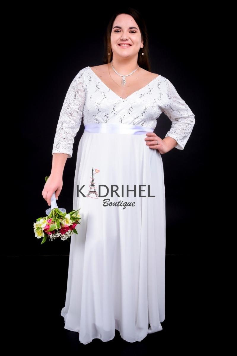 Vestido Boda Matrimonio Casamiento Tallas Grandes Kadrihel 75 000 En Mercado Libre