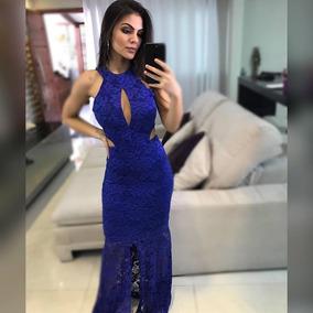 1cbc0cccf7 Vestido Sereia Longo Festa Azul Royal Lindo - Vestidos Longos Femininas no  Mercado Livre Brasil