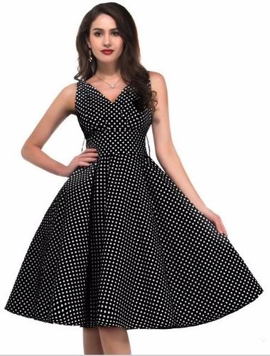 vestido bolas anos 60 vintage pinup retrô bolinhas