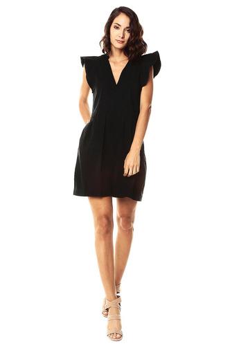 vestido boleros color siete para mujer-negro