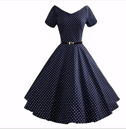 vestido bolinhas anos 60 vintage pinup retrô anos 50