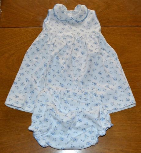 vestido bombachudo algodón pima 6-24 meses little treasure
