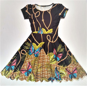 848ae01c7 Vestido Boneca Princesa Rodado Florido - Calçados