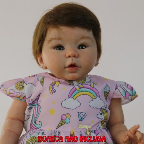 vestido boneca reborn unicórnio katitus
