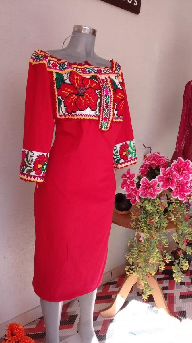 Vestido Bordado A Mano Por Artesanas De Juquila Oaxaca