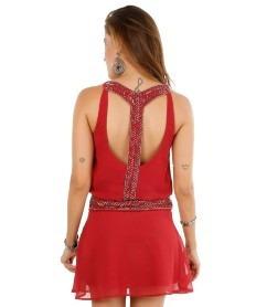 vestido bordado com canutilhos