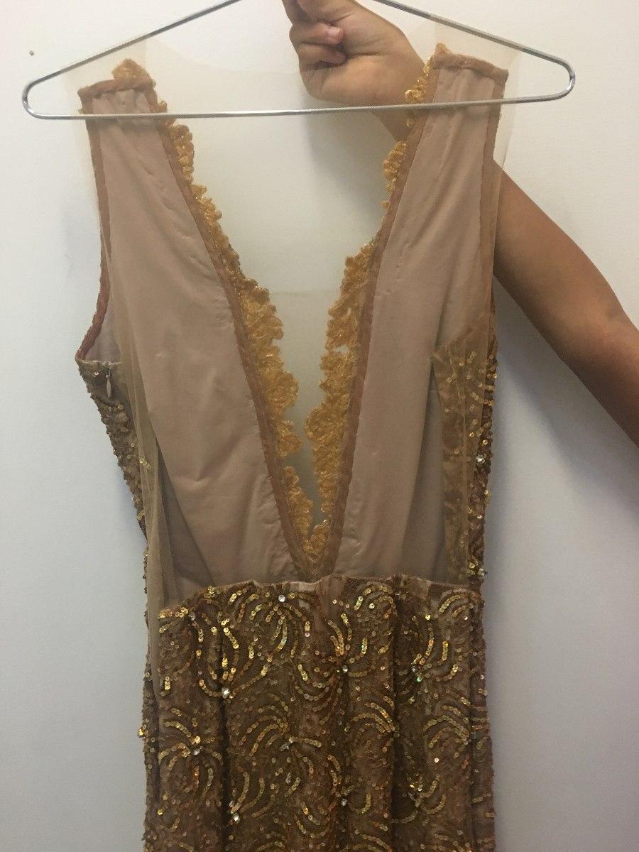 c7e39f389 Vestido Bordado Dourado - R$ 450,00 em Mercado Livre
