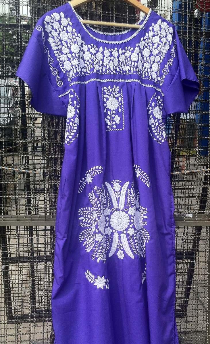 282405e839 vestido bordado mexicano largo. Cargando zoom.