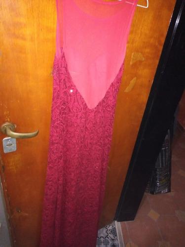 vestido bordo largo