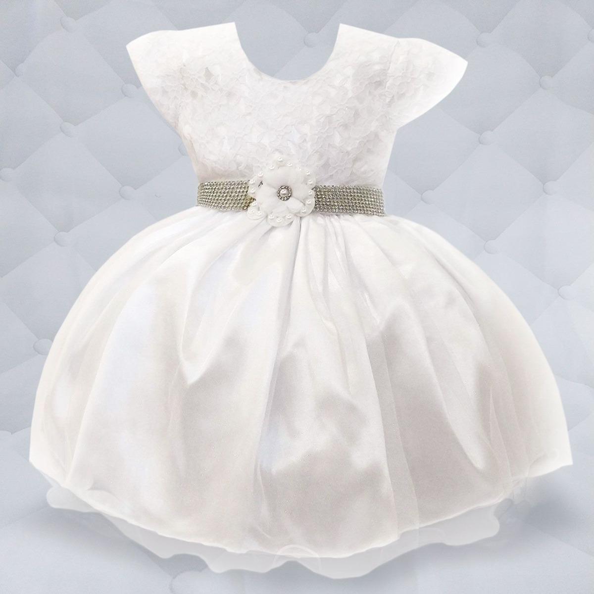 95b6a27ab4 vestido branco com cinto de strass. Carregando zoom.