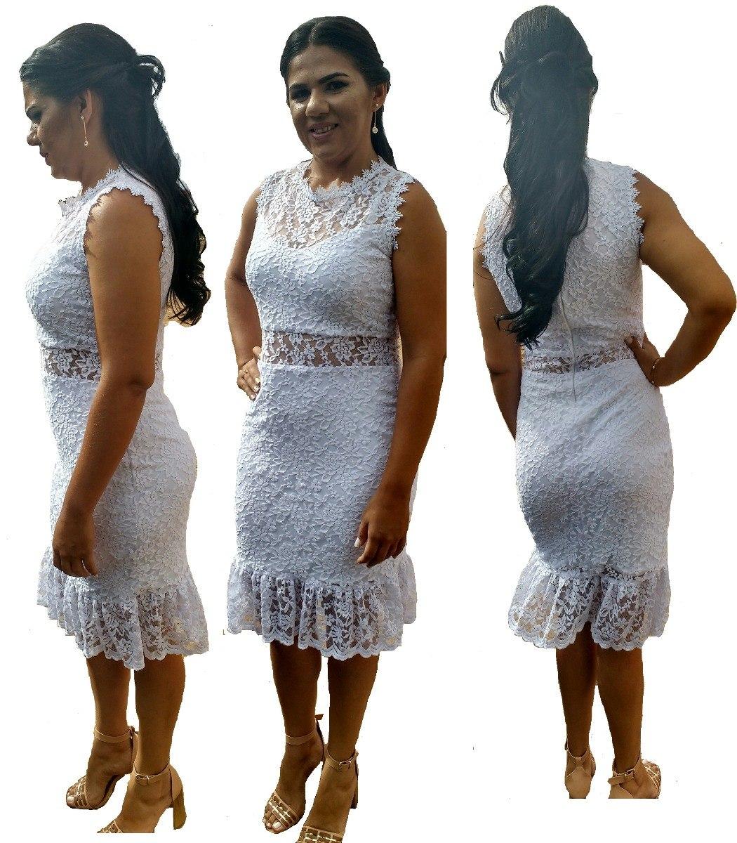 3b608d174 vestido branco curto festa renda final de ano reveillon. Carregando zoom.