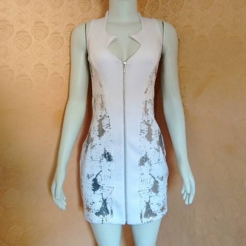 vestido branco curto labellamafia transparência reveillon