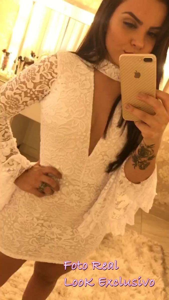 2fc2e3fbf5 vestido branco de festa renda casamentotubinho sara promoção. Carregando  zoom.