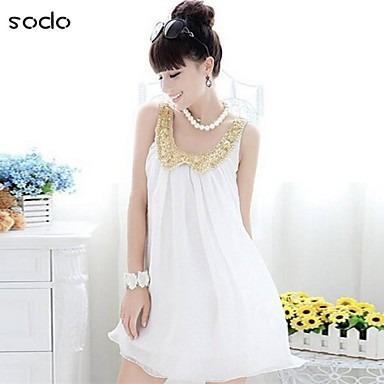 vestido branco importado frete gratis