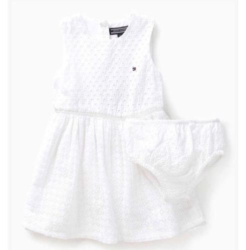 vestido branco infantil tommy hilfiger
