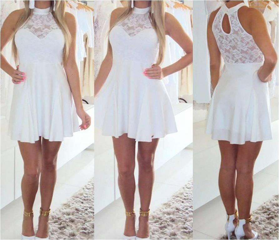 Vestido curto branco casamento
