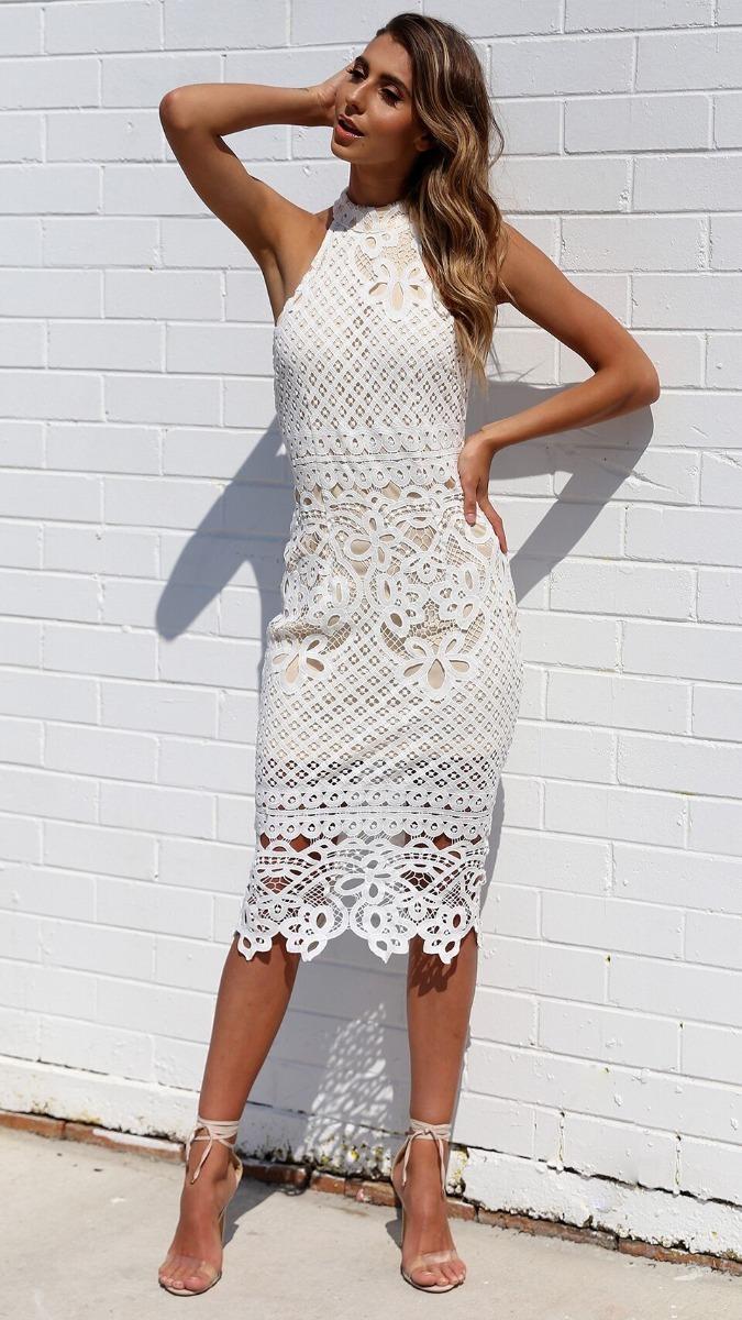 258a7f8bb vestido branco renda guipir festa noivas casamento civil. Carregando zoom.
