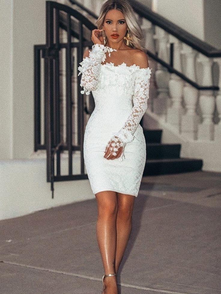 2a23b9acb vestido branco renda guipir festa noivas civil casamento. Carregando zoom.