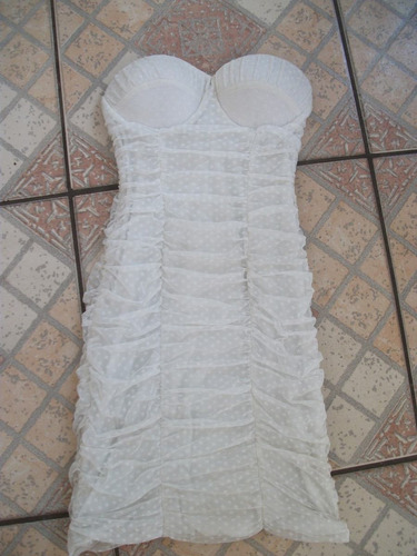 vestido branco ssang bang wool tam p usado