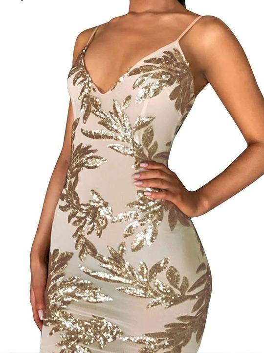 375000bdd Vestido Brilho Curto Festa Casamento Moda Feminina - R$ 190,00 em ...