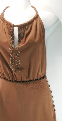 vestido café sheri bodell - fashionella - xs t9y3 t9y0