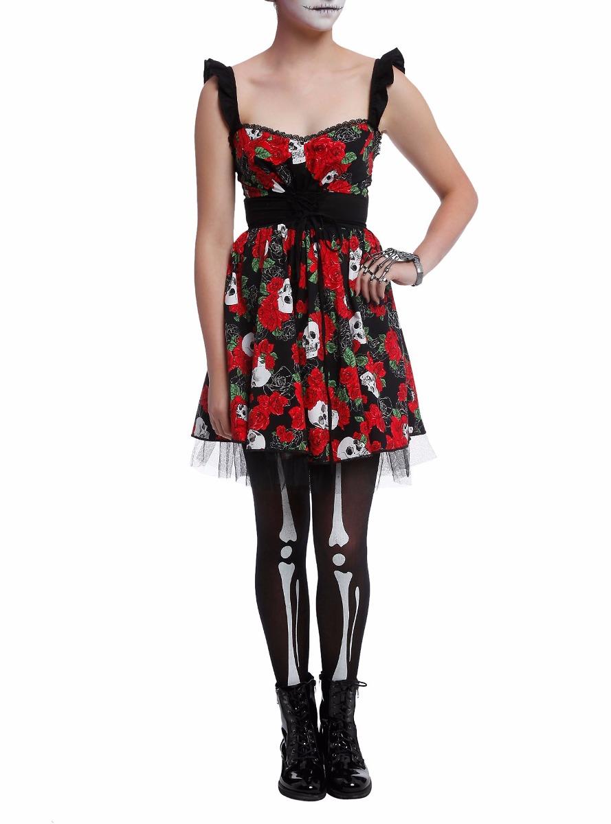 8d171ce9297 Vestido Calavera Disfraz Catrina Hot Topic Halloween -   494.50 en ...