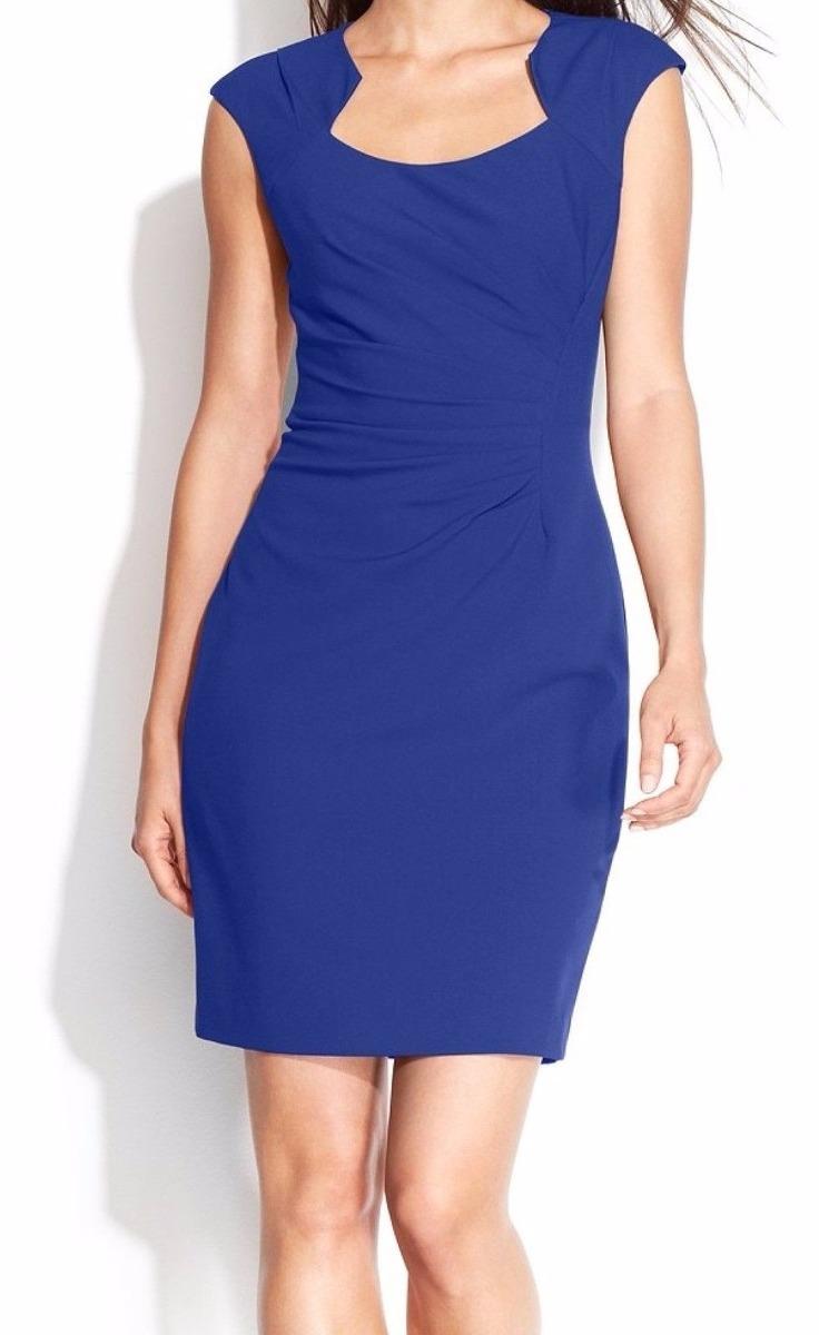 Vestido Calvin Klein Azul Talla L ó 12p Nuevo Marca Original
