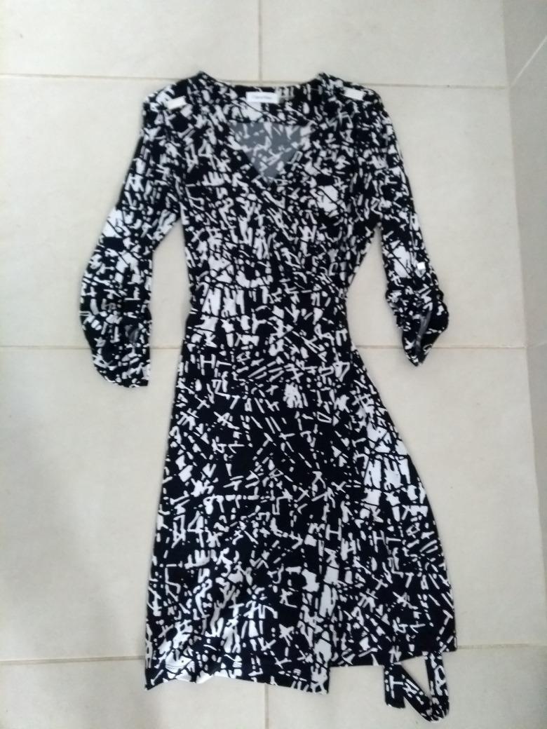 Vestidos calvin klein blanco y negro