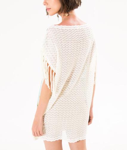 vestido camisa tricot golden rio farm