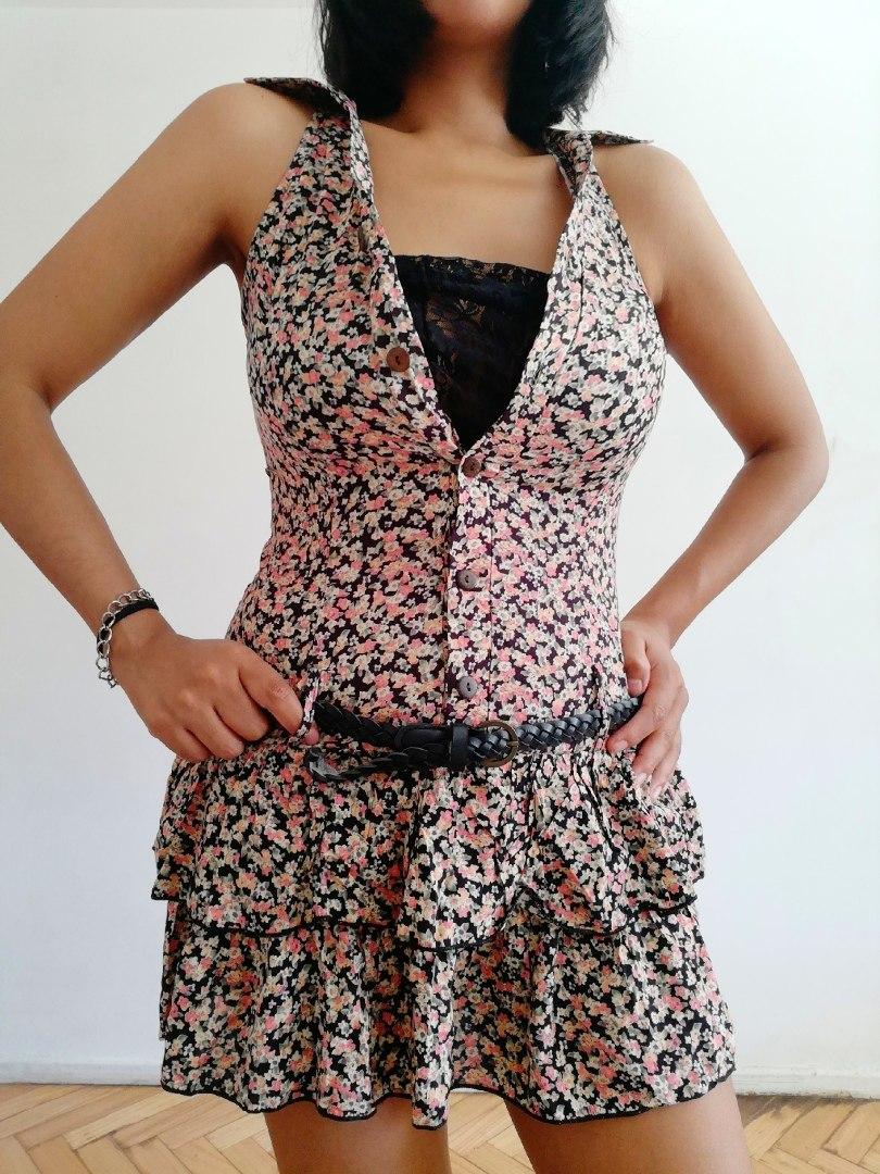 46eae22a6c1 Vestido Camisero Corto Floreado *importado* - $ 990,00 en Mercado Libre